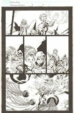 Annihilation Conquest #4 p.18 - Adam Warlock & Phyla-Vell - 2008 by Tom Raney