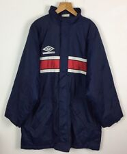 VINTAGE RETRO 90s UMBRO BRIGHT BOLD SPORTS ZIP UP JACKET FOOTBALL COAT UK XL