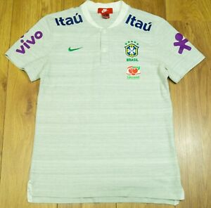 Brazil 2020 Player issue Grey Training/Travel Polo shirt size M