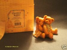 Cherished Teddies ^ Seth & Sarabeth We're beary good pals. boy & girl hugging