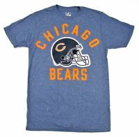Chicago Bears Men's Graphic T-Shirt Solid Design 75 Style NFL Heather Blue