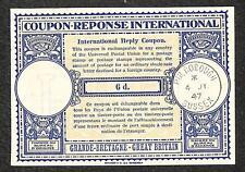 IRC INTERNATIONAL REPLY COUPON GREAT BRITAIN 6d TYPE B5 1947