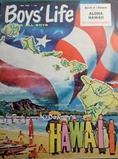 1960 Vintage Print Boy Scouts of America Boys Life Cover Aloha Hawaii by Bomar
