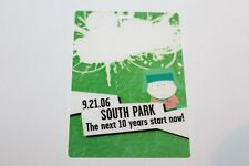 South Park - Laminated Backstage Pass   - Free Postage -