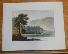 1821 Print, Aquatint Tour of English Lakes///FERRY ON WINDERMERE
