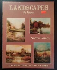Landscapes by Norma Poulos Decorative Tole Painting Book Jackie Shaw 59 Vtg 1988