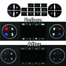 AC Button Stickers Decal Repair Dash Kit Replacement for Chevy GM Vehicles
