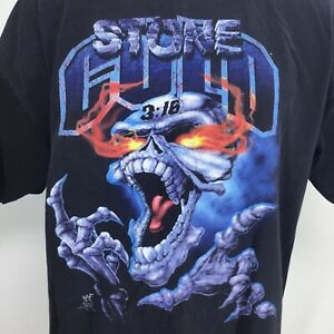 Vintage Sz 2XL READ Tshirt WWF Stone Cold Steve Austin 3:16 Skull Wrestling 1998