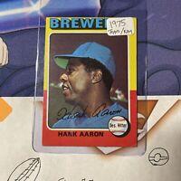 1975 Topps Hank Aaron Milwaukee Brewers #660 Baseball Card