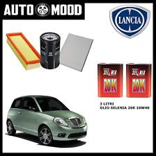 Kit tagliando Lancia Ypsilon 1.2 benzina 44 e 51 kw + 3lt olio SELENIA 20K