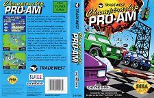 Championship Pro-Am Sega Genesis NTSC Replacement Box Art Case Insert Cover Scan