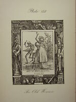 1887 Holbein Baile Con Muerte Estampado ~ la Vieja Mujer