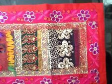 Table Runner - New - Multi-Color design On Red Background