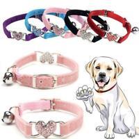 1*Breakaway Safety Quick Release Collar Adjustable Dog CAT Pet Puppy Kitten Bell