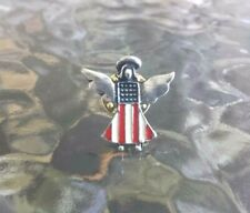 New listing U.S.A. American Jewelry 10 Guardian Angel With Flag Pewter Pins All New.