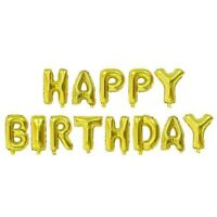 "4X(Aluminum Foil ""Happy Birtay"" Letter Balloon Set 16 Inch Birtay Party Deco6N4)"