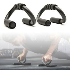 Metal S Shape Push Up Bars Push-Up Stand home Gym Fitness Training Exercise