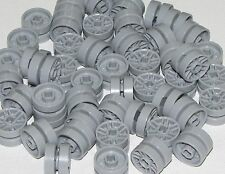 Lego Lot of 50 New Light Bluish Gray Wheels 14mm D. x 9.9mm Car Spokes Pieces
