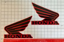 Honda Wings RED decals tank 500 Fourtrax Rubicon 130mm stickers fuel