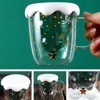 Weihnachtsbaum Star Water Cup 300ml Doppelschichtglas Qualität Hohe Y4B5