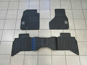 DODGE RAM 1500 Quad Cab Rubber Floor Mat Set Front & Rear NEW OEM MOPAR