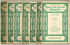 Choir and Choral Magazine 6 Vol 1905-6 Published by Oliver Ditson Company Nice $