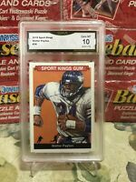 "2018 Sports Kings ""Stats Error"" Walter Payton #34 GMA 10 Gem MT"