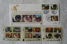 2007 Completed UN Endangered Species Stamps Silk First day cover LTD Ed. FDC