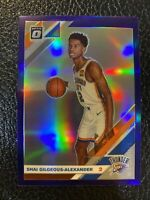 2019-20 Donruss Optic PURPLE HOLO #113 Shai Gilgeous-Alexander OKC Thunder Prizm