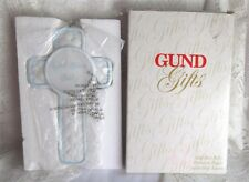 Gund Gifts GOD BLESS BABY Porcelain Cross Plaque Boy Blue New In Box