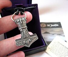 NEW ST JUSTIN MENS JEWELLERY VIKING THOR AMULET SCANDINAVIAN PENDANT NECKLACE