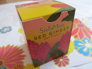 """Stella Mare Essential Oil Candle 3""""x3"""" Pillar /Glass Natural Scent USA Non Toxic"""