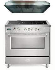 """Verona Vdfsee365Ss 36"""" Electric Range Convection Oven Stainless Steel 2 Pc Set"""