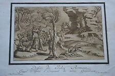 1780 Etching Aquatint by MARIA CATHARINA PRESTEL after GIULIO ROMANO Large