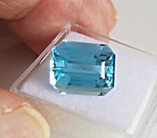 8.78ct. Blue Topaz  Octagon Cut Genuine Natural  Loose Stone 12X10mm gemstone