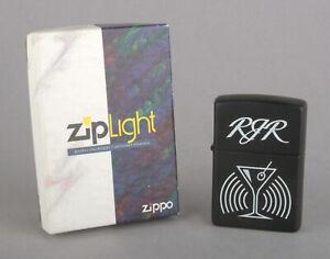 Zippo 1996-98 Camel Martini RJR ZipLight (Black Matte, White Screened Logo)