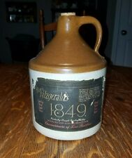 RARE Old Fitzgerald's 1849 Kentucky Bourbon Whiskey 1970 Bybee Pottery Crock Jug