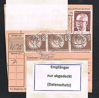 BRD Bund Paketkarte Mi.Nr. 732 und 854  Bedarfsbeleg MiF (080)