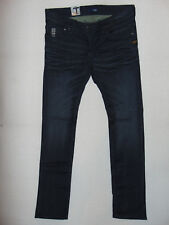 G-Star Raw 01 Defend Super Slim - W36 L36 - Mens Navy Comfort Yate Denim Jeans