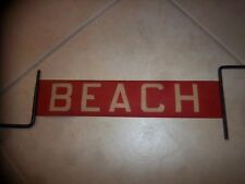 Nyc Bus Sign Staten Island Ny Beach Urban Transit New York Collectible Roll Sign