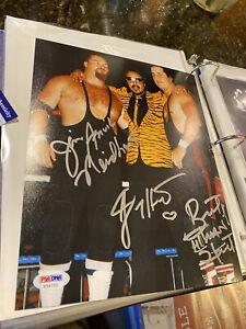 Hart Foundation Tri- Signed 8 x 10 - PSA/DNA Certified - WWE NXT AEW NWA