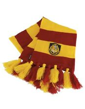 Harry Potter Hogwarts Scarf One-Size Tassels Crest Official Licensed by Elope