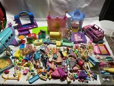 Polly Pocket Dolls/ Other Mini Dolls And Horses/ Polly Car /Plane/ Clothes H3