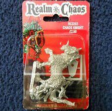 1988 Cavaliere del Caos 3 Games Workshop WARHAMMER Esercito Regno di guerriero CAVALLERIA Nuovo di zecca con scatola