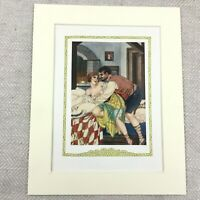 1920 Vintage Erotica Print Don Giovanni Nude Girl Intimate Scene