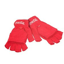 COCA COLA COKE FINGERLESS EMBROIDERED LOGO KNIT MITTENS GLOVES  NEW!