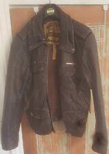 Superdry Leather Jacket, Large, Men's