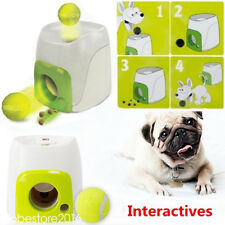 Automatic Dispenser Trainer Ball Play Pet Dog Interactive Fetch Treat Game Toys