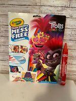 Crayola Color Wonder Trolls World Tour Coloring Book & Markers,  Bonus Incl. D-3