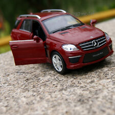 Mercedes-Benz ML63 AMG SUV 1:32 Alloy Diecast Model Car Sound&Light Red wine Toy
